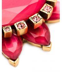 Oscar de la Renta - Green Bold Pear Shape Jewel Earrings - Lyst