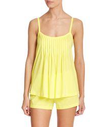 Hanro - Yellow Juliet Shorty Pajamas - Lyst