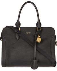 Alexander McQueen - Black Padlock Leather Cross-body Bag - Lyst