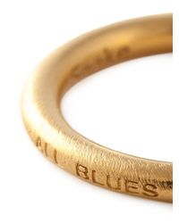 All_blues - Metallic 'Snake' Rounded Band Ring for Men - Lyst