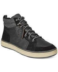 Clarks - Black Men's Lorsen Top Sneakers for Men - Lyst