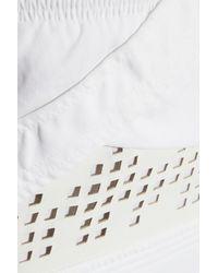 IRO - White Hawtrey Cutout Leather-Paneled Jersey Mini Dress - Lyst