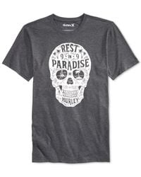 Hurley | Gray Rest In Paradise Graphic-print Logo T-shirt for Men | Lyst