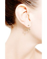 Janis Savitt | Metallic Diamond Three Star Earrings | Lyst