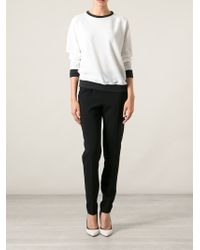 Moschino - Black Slim Fit Trousers - Lyst