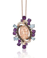 Le Vian | Purple Crazy Semi-precious, Multi-stone And 14k Strawberry Gold Pendant Necklace | Lyst