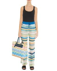 Missoni - Blue Knit Beach Bag - Lyst