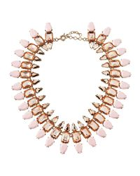 Panacea - Pink Rose Statement Collar Necklace - Lyst