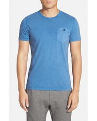 French Connection | Blue Pocket T-Shirt for Men | Lyst
