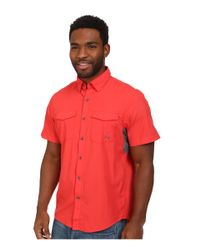 Under Armour - Red Ua Iso-chill Flats Guide S/s Shirt for Men - Lyst