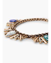 Mango | Metallic Bead Rhinestone Necklace | Lyst