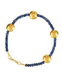 Gurhan | Metallic 24k Gold & Blue Sapphire Gleam Rain Bracelet | Lyst