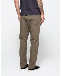 Obey | Green Travel Slub Twill Pant for Men | Lyst