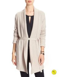 Banana Republic | Natural Factory Draped Cardigan | Lyst