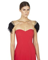 BCBGMAXAZRIA | Metallic Feather And Stone Body Chain | Lyst