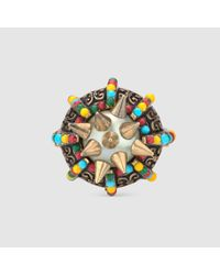 Gucci | Multicolor Ring With Spikes And Beads | Lyst