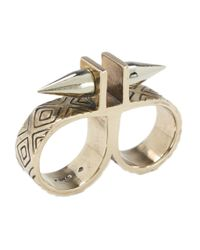 Pamela Love | Metallic Paramount Double Finger Ring | Lyst