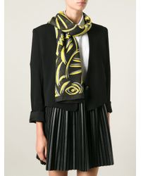 KENZO - Yellow Big Monster Wool Scarf - Lyst