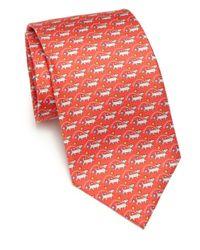 Ferragamo - Red Dog Silk Tie for Men - Lyst