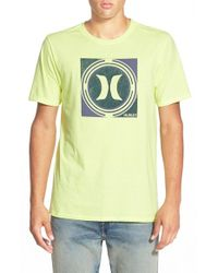 Hurley - Yellow 'Crop Circle' T-Shirt for Men - Lyst