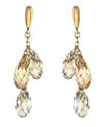 Swarovski - Metallic Gold & Multi-Stone Lagoon Earrings - Lyst