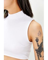 Truly Madly Deeply - White Mocturnal Cropped Tank Top - Lyst