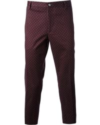 Milano Parigi - Purple Cropped Printed Trouser for Men - Lyst