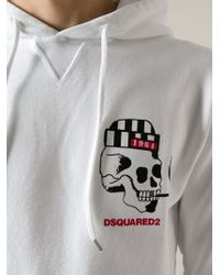 DSquared² - White Printed Hoodie for Men - Lyst