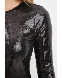 Forever 21 - Black Sequined Bodycon Dress - Lyst