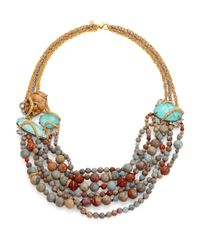 Alexis Bittar | Metallic Elements Desert Jasper, Amazonite & Crystal Beaded Strand Necklace | Lyst