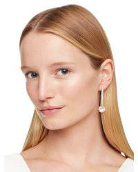 kate spade new york | White Think Links Linear Earrings | Lyst