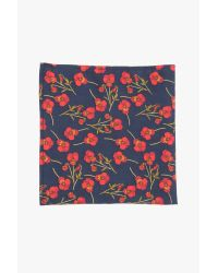 7 For All Mankind - Blue Pocket Square Clothing The Nathalie Pocket Square In Navy - Lyst