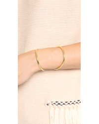 Lady Grey | Metallic Contour Cuff Bracelet - Gold | Lyst