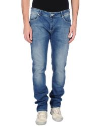 Peuterey - Blue Denim Trousers for Men - Lyst