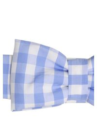 Vivetta - Blue Silvia Gingham Cotton Headband - Lyst