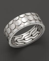 John Hardy | Metallic Mens Dot Silver Band Ring for Men | Lyst