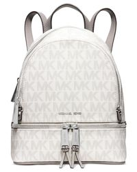 Michael Kors | White Michael Rhea Extra Small Backpack | Lyst