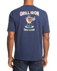Tommy Bahama | Blue 'grill Iron' Crewneck T-shirt for Men | Lyst