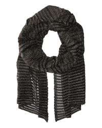 M Missoni | Black Solid Lurex Scarf | Lyst