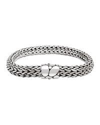 John Hardy | Gray Bedeg Silver Medium Chain Bracelet | Lyst