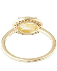 Anna Sheffield | Metallic Gold Pavé Diamond Amulet Ring | Lyst