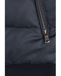 Woolrich - Down Jacket With Jersey Sleeves - Blue for Men - Lyst
