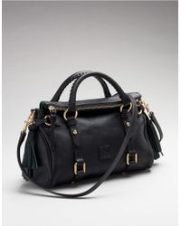 Dooney & Bourke | Black Florentine Mini Leather Satchel | Lyst
