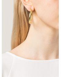 Vaubel | Metallic Hoop Earrings | Lyst