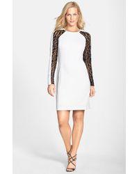Julia Jordan - Black Lace Panel Sheath Dress - Lyst