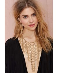Nasty Gal - Metallic Climb The Ladder Chain Necklace - Lyst