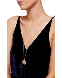 Monica Rich Kosann Metallic 18k Yellow Gold Diamond Baby Feet Necklace