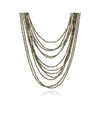 Annoushka | Metallic Alchemy Iron Pyrite And 18ct Yellow-gold Layered Necklace | Lyst