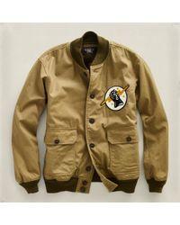 RRL | Brown Varsity Jacket for Men | Lyst