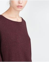 Zara | Purple Oversized Sweatshirt | Lyst